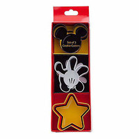 disney parks mickey icon glove star set of 3 cookie cutters new with box
