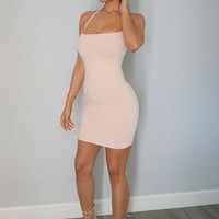 Lola Bodycon Dress- PEACH