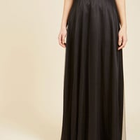 Tulle True Maxi Skirt in Black | Mod Retro Vintage Skirts | ModCloth.com