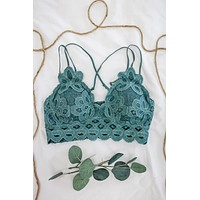 Love Affair Bralette - Dark Sage