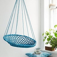 Hanging Basket Swing Chair in Blue - Urban Outfitters