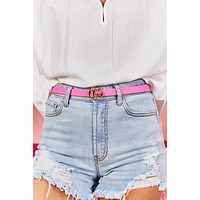 Small But Extra Belt (Pink)