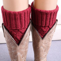 Cupshe Warm Up Knitting Boot Cuffs