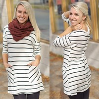 Time Well Spend Tunic (Black / White) - Piace Boutique