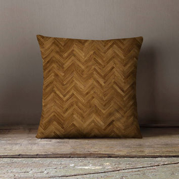 Parquet Floor Pillowcase | Decorative Throw Pillow Cover | Cushion Case | Pillow Case | Birthday Gift Idea For Him & Her