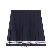 Striped Hem Tennis Skirt | MIXXMIX