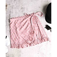 Motel Rocks - Miza Mini Wrap Skirt - Spot Stripe Pink
