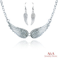Necklaces Angel Wings Choker Necklaces For Women OL Style Necklace&Pendants High Quanlity Jewelry Brand A&A Jewelry