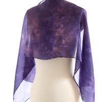 Purple silk scarf, naturally dyed silk, light silk shawl, logwood madder dyed, purple blue pink lilac, eco friendly, christmas gift for her