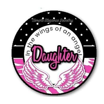 In The Wings Of An Angel Daughter Snap Charm 20mm