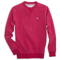 Skipjack Heathered Upper Deck Pullover in Sangria by Southern Tide