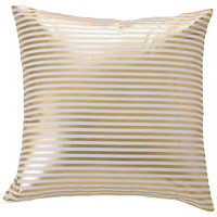 Saint Tropez 18x18 Cotton Pillow, Gold, Decorative Pillows
