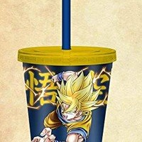 Dragon Ball Z (DBZ) Official Super Saiyan Goku Tumbler, 16oz (BPA Free)