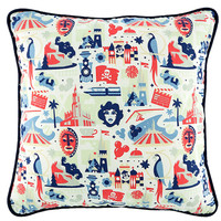 Disney Parks Icons Cotton Pillow New with Tags