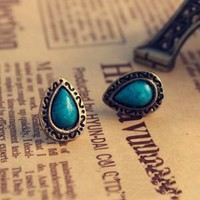 Jewelry Turquoise Blue Crystal Earrings