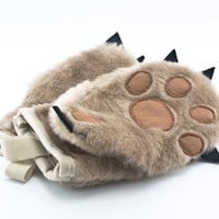 Kitchen Gloves  - Kitchen Mitts set in a Funny Form of Teddy Bear Paw- Potholders set of two