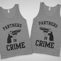 Partners in Crime Vintage Bestie Tanks from Lookhuman.com