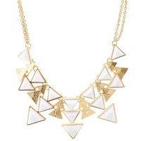 Tiered Triangle Stone Bib Necklace by Charlotte Russe - Gold
