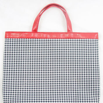 Black & White Checkered Bag