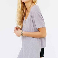 Truly Madly Deeply Foil Burst Tee- Taupe