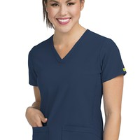 Med Couture Women's 'Activate' V-Neckline Power Scrub Top