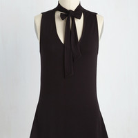 Bold-Faced Tie Top in Ink | Mod Retro Vintage Short Sleeve Shirts | ModCloth.com