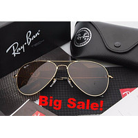 Ray Ban Aviator Sunglass Gold Brown Mirrored RB 3025 Tagre™