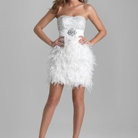 Night Moves 6670 White Cocktail Dress