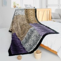 Onitiva -[Nature And Sexy] Patchwork Throw Blanket (61 by 86.6 inches)