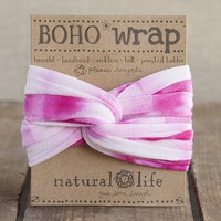 Pink  &  White  Tie-Dye  Boho  Wrap  From  Natural  Life