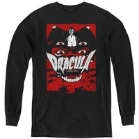 Dracula Kids Long Sleeve Shirt Eyes Black Tee