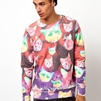 Hype Cat Sweatshirt Exclusive To Asos