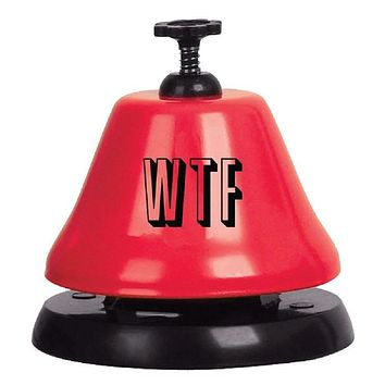 WTF Bar Top Bell in Red and Black