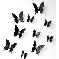 Sangu 3D Blue Butterfly Removable Mural Wall Stickers Wall Decal for Home Decor(Blue)