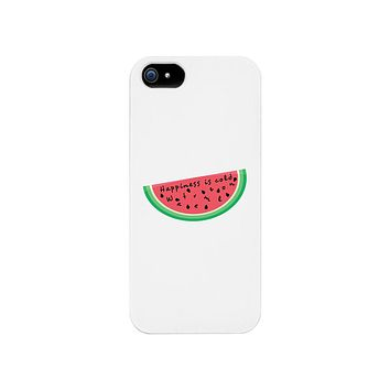 Happiness Is Cold Watermelon White Phone Case
