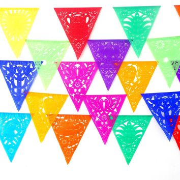 5Pk Paper Mexican Banners 53 ft Pennant Style B810