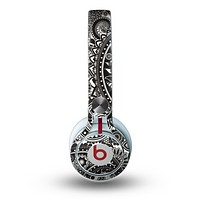 The Black & White Pasiley Pattern Skin for the Beats by Dre Mixr Headphones