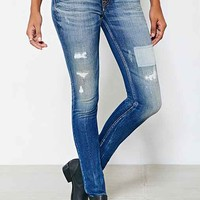 Kings Of Indigo Juno Super Slim-Fit Patched Jean - Patched- Vintage Denim Medium