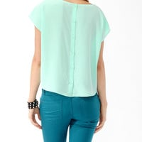 Buttoned Back Top