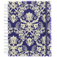 damask flock A5 thick notebook at Paperchase