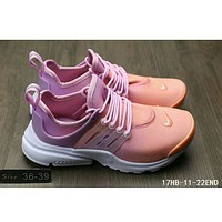 Nike Air Presto casual men and women sports running tide shoes F-HAOXIE-ADXJ Pink + orange toe