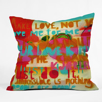 Randi Antonsen Impossible Is Nothing Throw Pillow