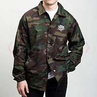 VANS 2020 New Camo Men's Long Sleeve Button Jacket