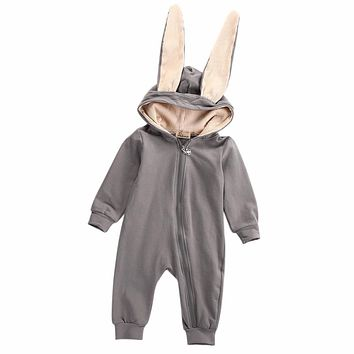 Unisex Rabbit Bunny Ear Romper Perfect For Halloween Too