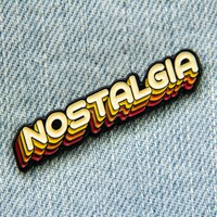 70's Nostalgia Enamel Pin in Yellow and Orange