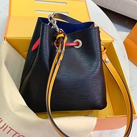 Louis Vuitton LV Fashion Women Leather Multicolor Shoulder Bag Crossbody Satchel Bucket Bag
