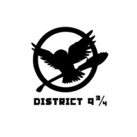 """Wizard Owl Hedwig District 9 3/4 (Hunger Games Mockingjay Logo) Custom Made Vinyl Decal Sticker - 3.4"""" x 3.5"""" - 28 Color Options"""