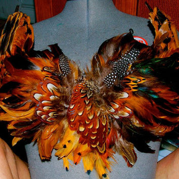 CUSTOM FEATHER BRA made to order
