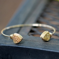 Open Druzy Bangle - Gilded Gold