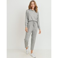 Lazy Sunday Lounge Romper in Gray